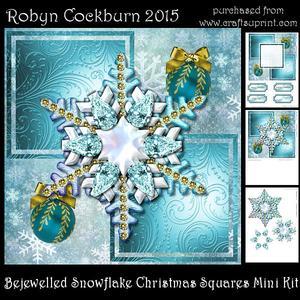 Bejewelled Snowflake Christmas Squares Mini Kit