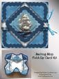 Sailing Ship Handkerchief Fold Card Kit