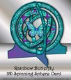 Rainbow Butterfly 3D Spinning Sphere Card Kit