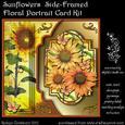 Golden Sunflowers Side-framed Floral Portrait Card Kit