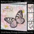 Pink Daisy Vintage Butterfly Card Kit