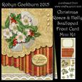 Christmas Roses & Holly Scallop Front Card Kit