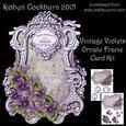 Vintage Violets Ornate Frame Card Kit