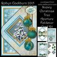 Snowy Christmas Tree Aperture Foldover Card Kit