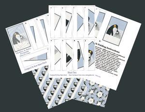Mother & Baby Penguin Iris Folding Kit