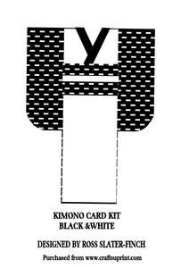 Kimono Card Kit - Black & White