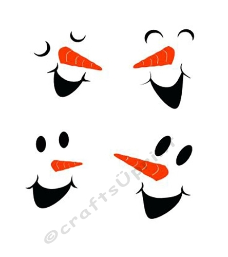 Snowman faces 2nd edition - CUP731825_66824   Craftsuprint