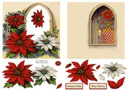 Poinsettias 6x6 Aperture Card
