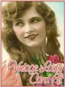 Vintage Lady Card Kit