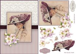 Lady in Purple Quick Card