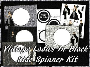 Vintage Ladies in Black Side Spinner