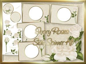 Ivory Roses Side Spinner Kit