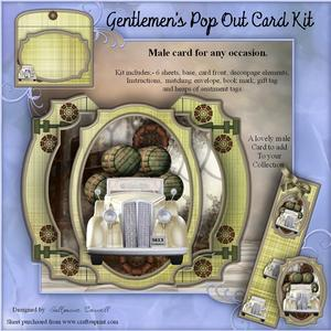 Gentlemen's Pop Out Card Kit
