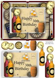30th Birthday Book Card