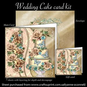 Wedding Cake Card Kit