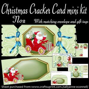 Christmas Cracker Card No2 Mini Kit