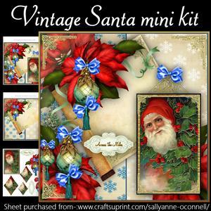 Vintage Santa Mini Kit