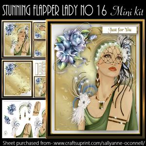 Stunning Flapper Lady No 16 Mini Kit