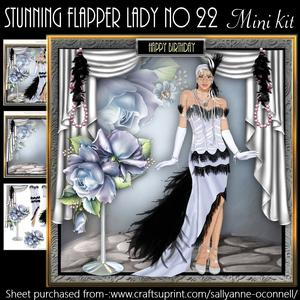 Stunning Flapper Lady No 22 Mini Kit