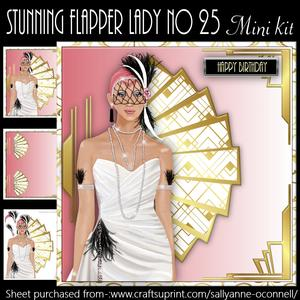 Stunning Flapper Lady No 25 Mini Kit