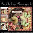 Fan, Clock and Flowers Mini Kit