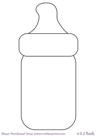Baby bottle template cup193971 1026 craftsuprint for Baby shower decoration templates
