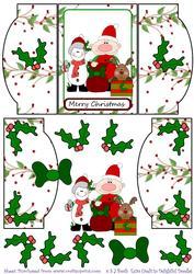 Elf, Reindeer, Snowman Mini Gatefold