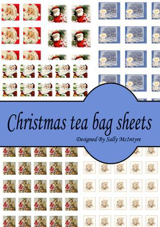 Christmas Tea Bag Sheet Kit