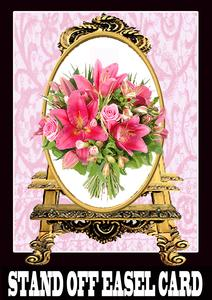 Stand Off Easel Card Formal Beauty