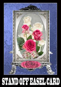 Silver Beauty Stand Off Easel Card