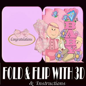 Fold and Flip Baby Girl with 3D and Instructions