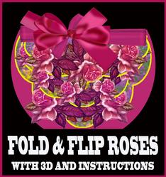 Roses in Pink Fold and Flip Card with Instructions