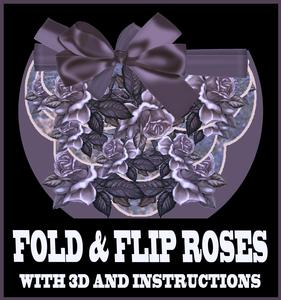 Roses in Antique Purple Fold and Flip Card with Instructions