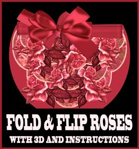 Red Roses Fold and Flip Card with Instructions