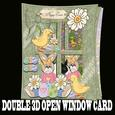 Double 3D Open Window with Insert