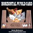 Horizontal W Fold Just Chickens