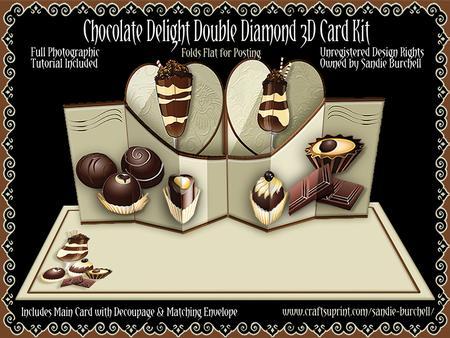 Chocolate Delight Double Diamond 3D Card Kit