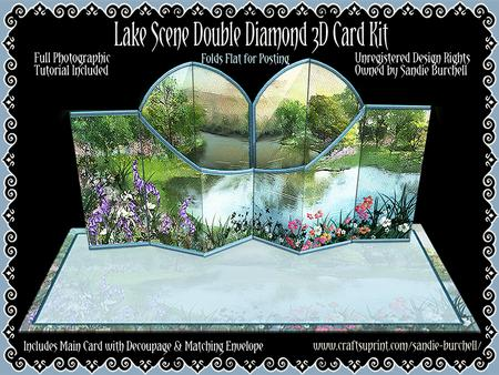 Lake Scene Double Diamond 3D Card Kit