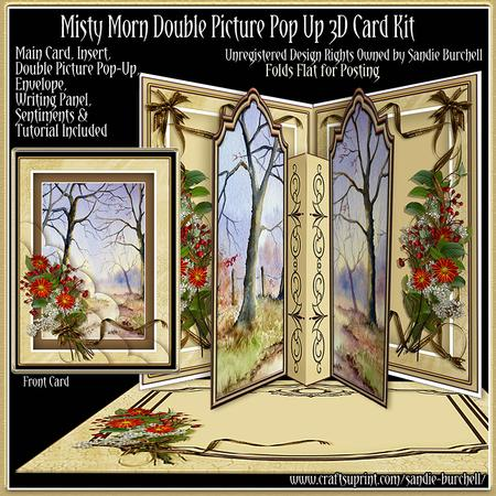 Misty Morn Double Picture Pop-up 3D Card Kit