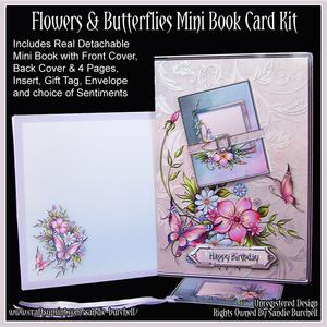 Flowers & Butterflies Mini Book Card Kit