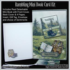 Rambling Mini Book Card Kit
