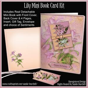 Lily Mini Book Card Kit