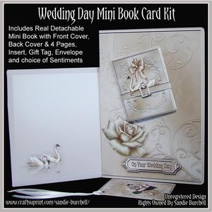 Wedding Day Mini Book Card Kit