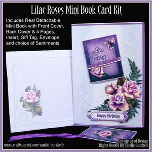 Lilac Roses Mini Book Card Kit