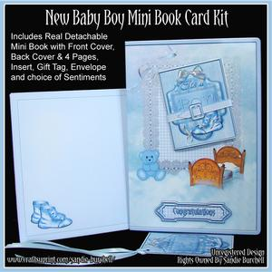 New Baby Boy Mini Book Card Kit