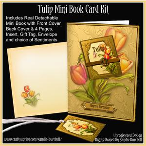 Tulip Mini Book Card Kit