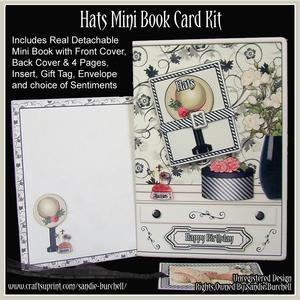 Hats Mini Book Card Kit