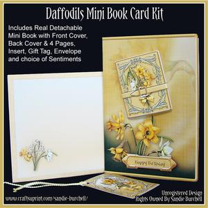 Daffodils Mini Book Card Kit