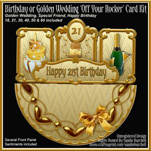Birthday or Golden Wedding 'off Your Rocker' Card Kit