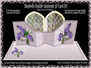 Bluebells Double Diamond 3D Card Kit